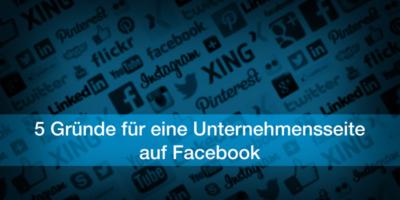 Unternehmensseite Facebook